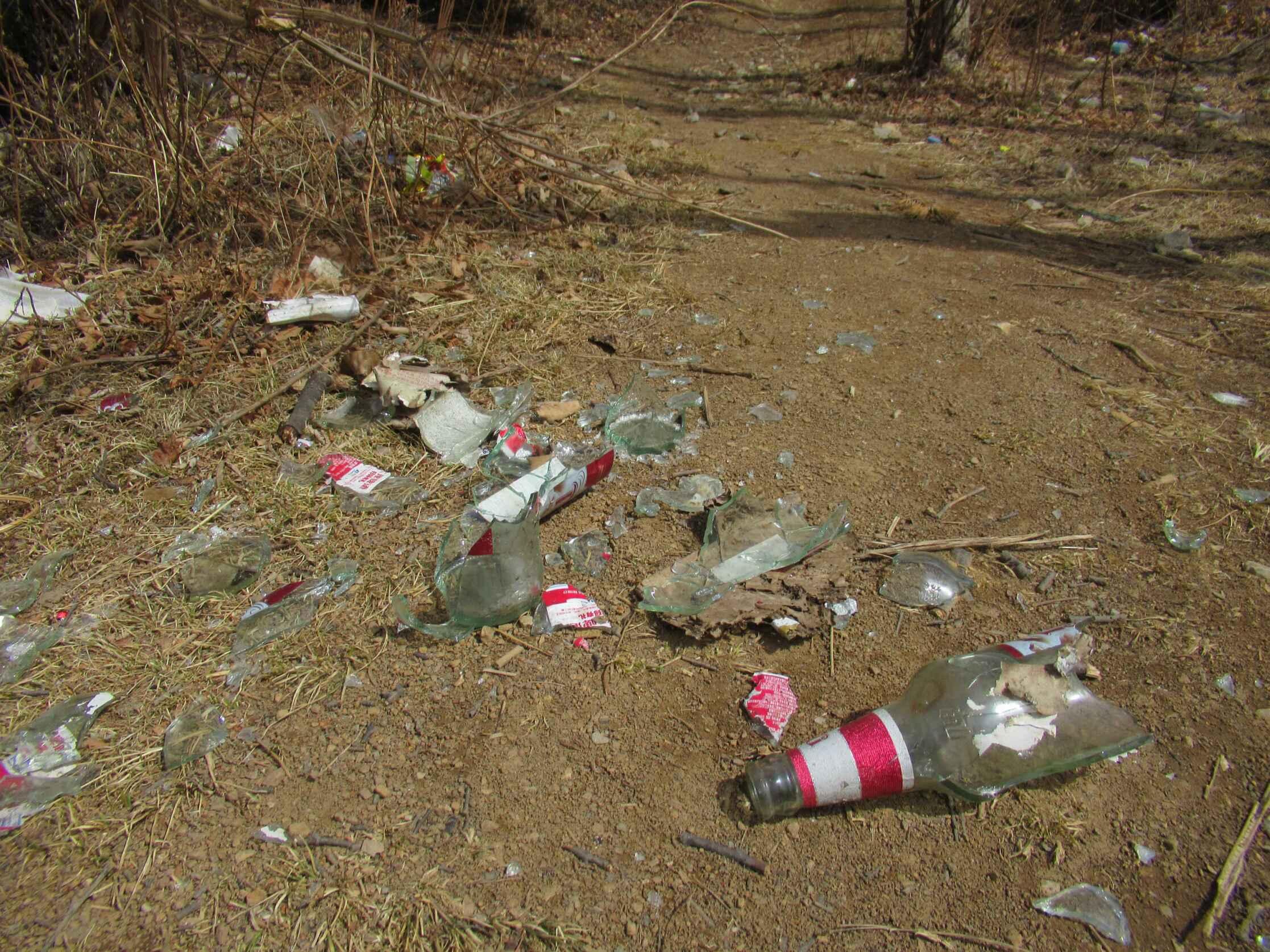 到五凤山游玩 请带走你的啤酒瓶