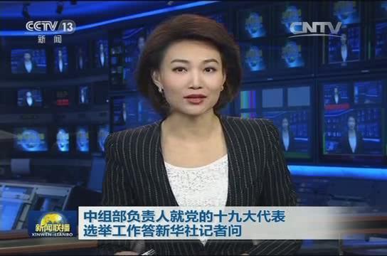 中组部负责人就党的十九大代表选举工作答新华社记者问
