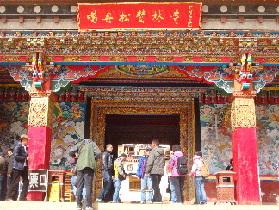 国庆大假后松赞林景区旅游依旧火热