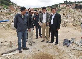 州长督查古城重建