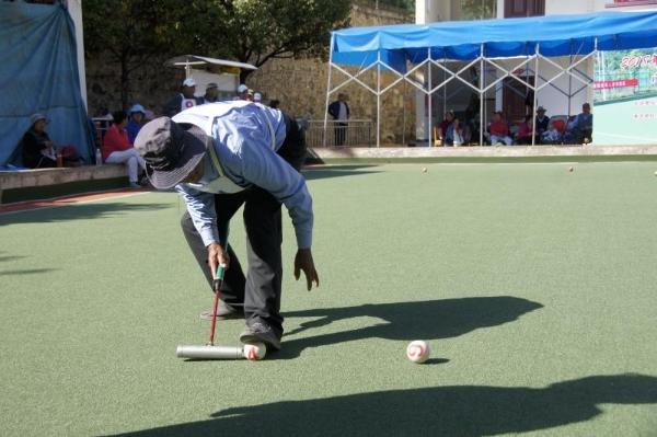 全州老年人门球运动会在开发区开赛