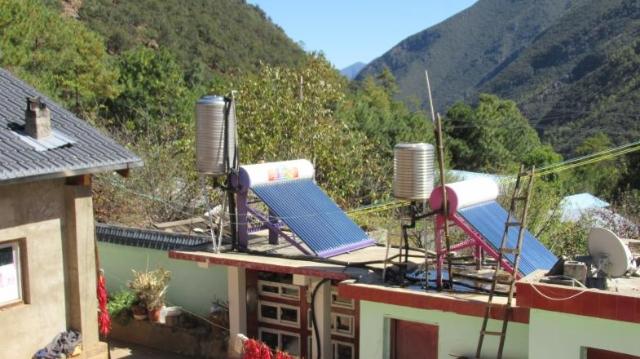 干沟村民用上了太阳能
