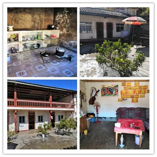 拉嘎洛村民蜂志仙将屋里屋外打扫得干干净净
