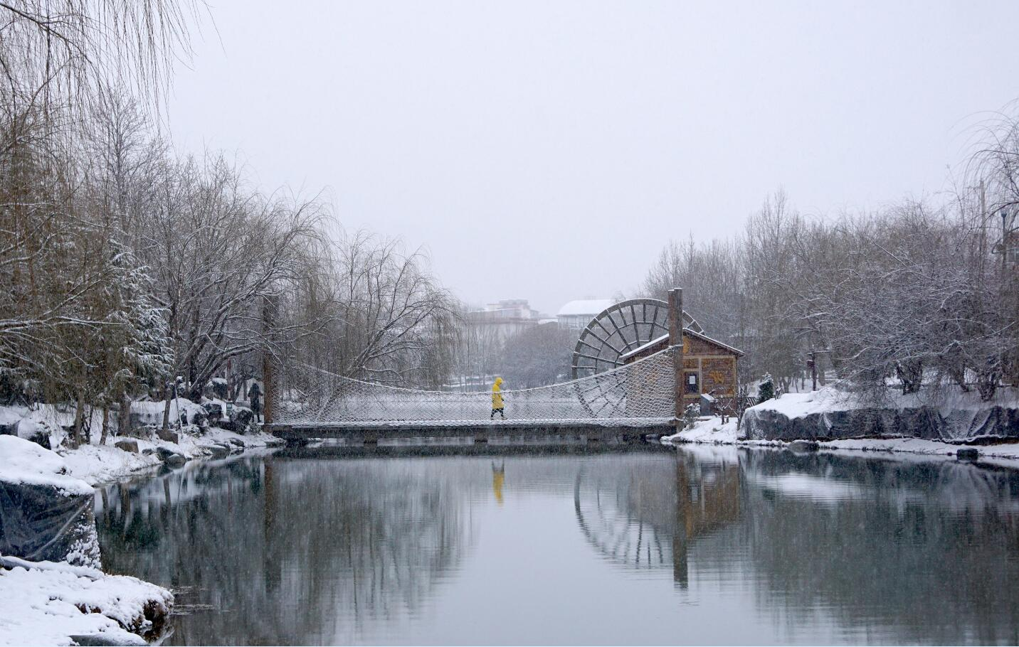 龙潭湖雪景