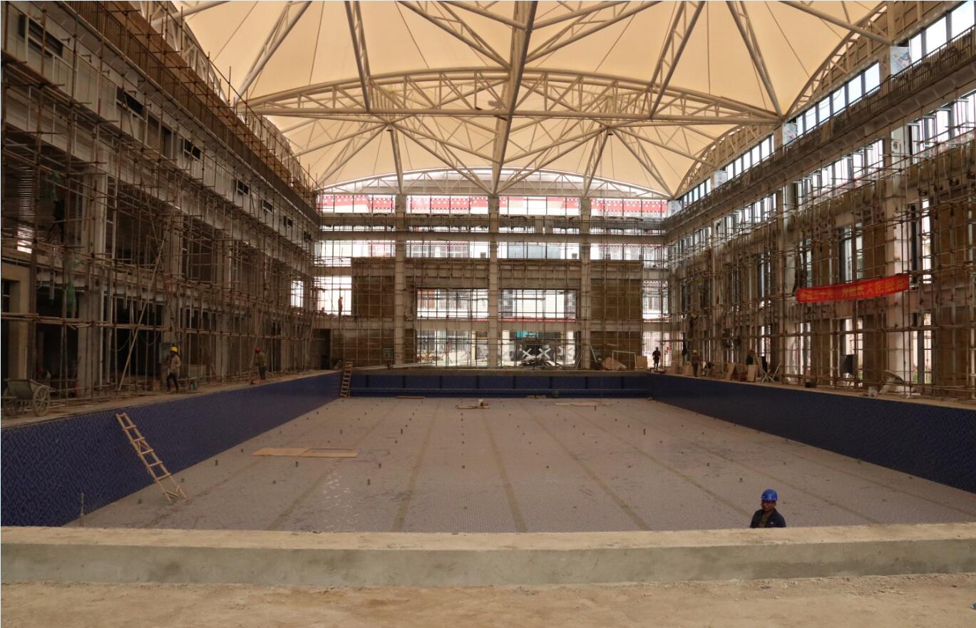 迪庆州游泳馆已完成主体建设