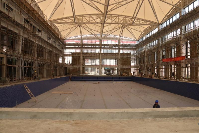 州游泳馆及附属配套设施建设有序推进中