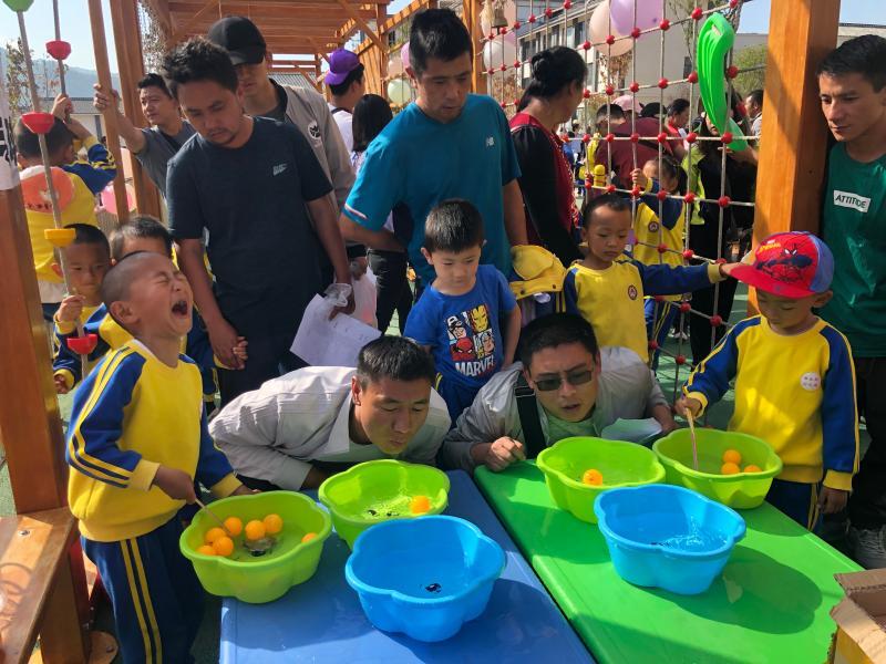 """维西县幼儿园举办亲子趣味活动庆""""六一"""""""