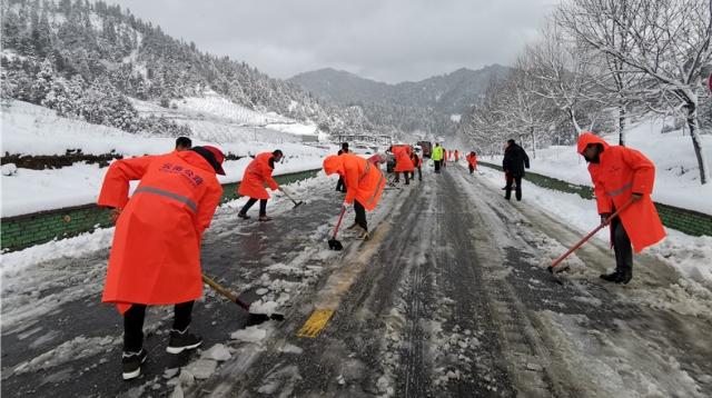维西公路分局切实做好大雪天气道路保通保畅工作