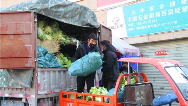 德钦县调运新鲜蔬菜 确保物资供应充足