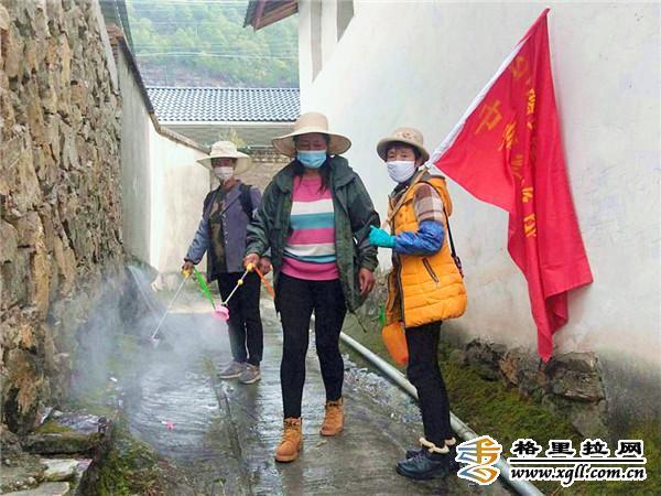 维西县中路乡佳禾村妇联带领巾帼红旗服务队积极开展防疫工作