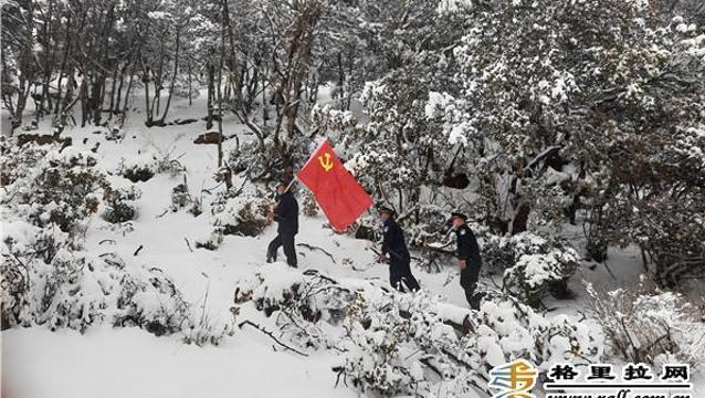 格咱森林派出所开展野生动物保护巡山管护活动