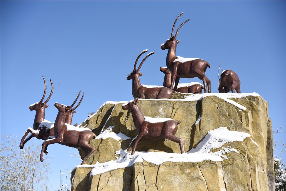 雪后的香巴拉公园